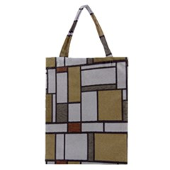 Fabric Textures Fabric Texture Vintage Blocks Rectangle Pattern Classic Tote Bag