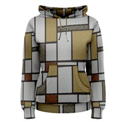 Fabric Textures Fabric Texture Vintage Blocks Rectangle Pattern Women s Pullover Hoodie