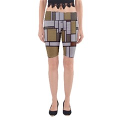 Fabric Textures Fabric Texture Vintage Blocks Rectangle Pattern Yoga Cropped Leggings