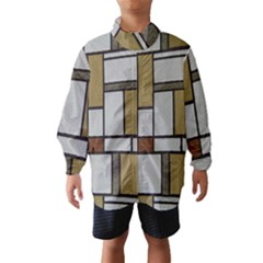 Fabric Textures Fabric Texture Vintage Blocks Rectangle Pattern Wind Breaker (kids)