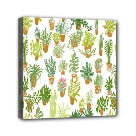 Flowers Pattern Mini Canvas 6  X 6