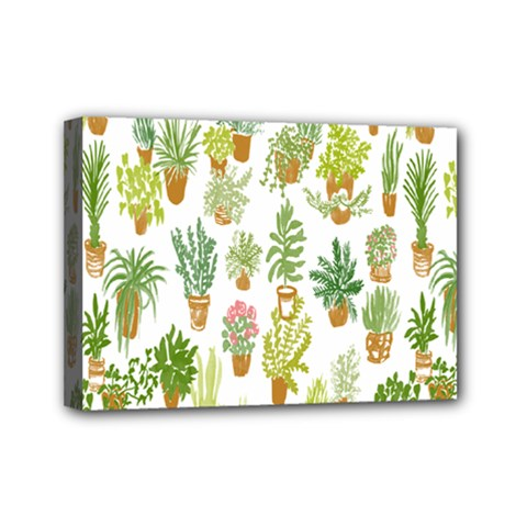 Flowers Pattern Mini Canvas 7  x 5