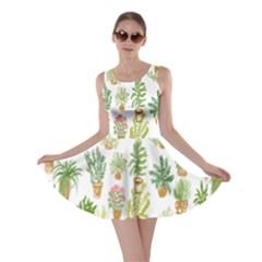 Flowers Pattern Skater Dress