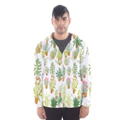 Flowers Pattern Hooded Wind Breaker (Men)