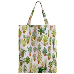 Flowers Pattern Zipper Classic Tote Bag