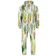 Flowers Pattern Hooded Jumpsuit (men)