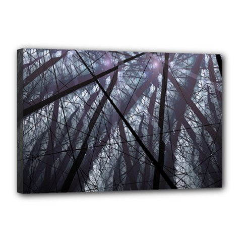 Fractal Art Picture Definition  Fractured Fractal Texture Canvas 18  x 12