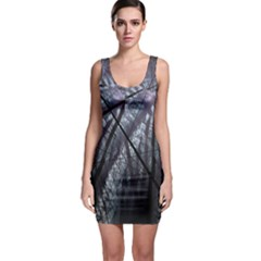 Fractal Art Picture Definition  Fractured Fractal Texture Sleeveless Bodycon Dress