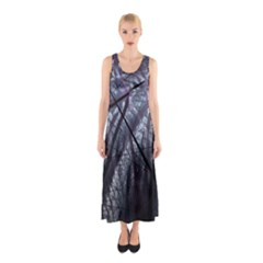 Fractal Art Picture Definition  Fractured Fractal Texture Sleeveless Maxi Dress