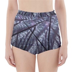 Fractal Art Picture Definition  Fractured Fractal Texture High-Waisted Bikini Bottoms