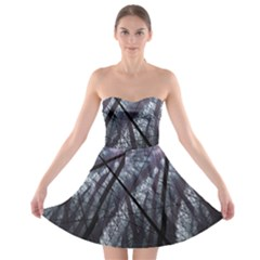Fractal Art Picture Definition  Fractured Fractal Texture Strapless Bra Top Dress