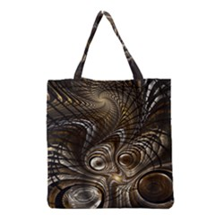 Fractal Art Texture Neuron Chaos Fracture Broken Synapse Grocery Tote Bag