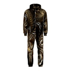Fractal Art Texture Neuron Chaos Fracture Broken Synapse Hooded Jumpsuit (Kids)