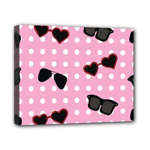 Pisunglass Tech Pink Pattern Canvas 10  x 8