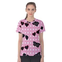 Pisunglass Tech Pink Pattern Women s Cotton Tee