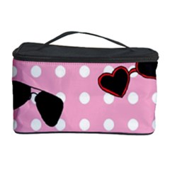 Pisunglass Tech Pink Pattern Cosmetic Storage Case