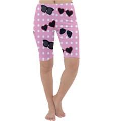 Pisunglass Tech Pink Pattern Cropped Leggings