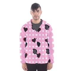 Pisunglass Tech Pink Pattern Hooded Wind Breaker (men)