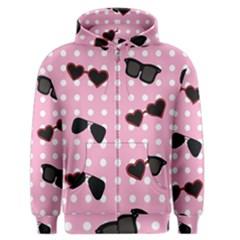 Pisunglass Tech Pink Pattern Men s Zipper Hoodie