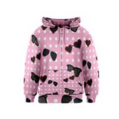 Pisunglass Tech Pink Pattern Kids  Zipper Hoodie