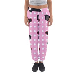 Pisunglass Tech Pink Pattern Women s Jogger Sweatpants