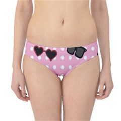 Pisunglass Tech Pink Pattern Hipster Bikini Bottoms
