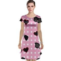 Pisunglass Tech Pink Pattern Cap Sleeve Nightdress