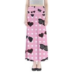Pisunglass Tech Pink Pattern Maxi Skirts