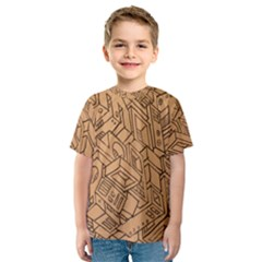 Mechanical Tech Pattern Kids  Sport Mesh Tee
