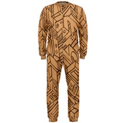 Mechanical Tech Pattern Onepiece Jumpsuit (men)
