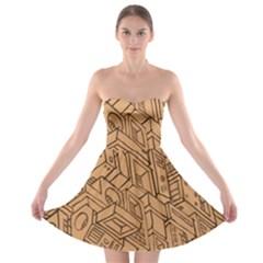Mechanical Tech Pattern Strapless Bra Top Dress