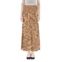 Mechanical Tech Pattern Maxi Skirts