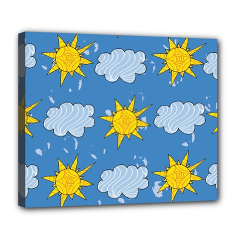 Sunshine Tech Blue Deluxe Canvas 24  x 20