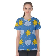 Sunshine Tech Blue Women s Cotton Tee