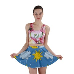 Sunshine Tech Blue Mini Skirt
