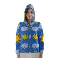 Sunshine Tech Blue Hooded Wind Breaker (Women)