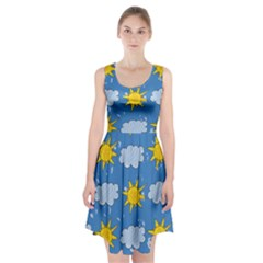 Sunshine Tech Blue Racerback Midi Dress