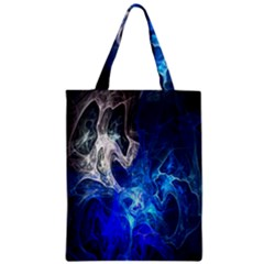 Ghost Fractal Texture Skull Ghostly White Blue Light Abstract Classic Tote Bag