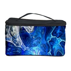 Ghost Fractal Texture Skull Ghostly White Blue Light Abstract Cosmetic Storage Case