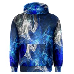 Ghost Fractal Texture Skull Ghostly White Blue Light Abstract Men s Pullover Hoodie