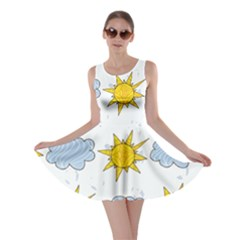 Sunshine Tech White Skater Dress