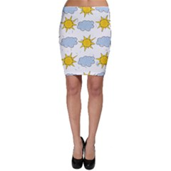 Sunshine Tech White Bodycon Skirt