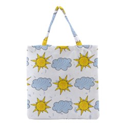 Sunshine Tech White Grocery Tote Bag
