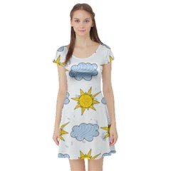 Sunshine Tech White Short Sleeve Skater Dress