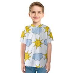 Sunshine Tech White Kids  Sport Mesh Tee