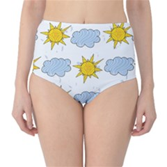 Sunshine Tech White High-Waist Bikini Bottoms