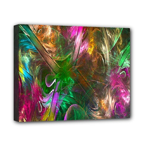 Fractal Texture Abstract Messy Light Color Swirl Bright Canvas 10  X 8