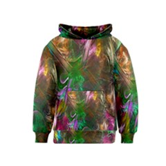 Fractal Texture Abstract Messy Light Color Swirl Bright Kids  Pullover Hoodie