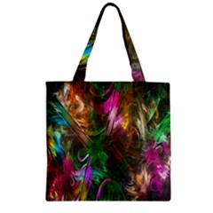 Fractal Texture Abstract Messy Light Color Swirl Bright Zipper Grocery Tote Bag