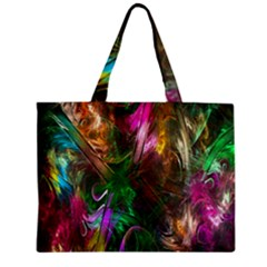 Fractal Texture Abstract Messy Light Color Swirl Bright Zipper Mini Tote Bag